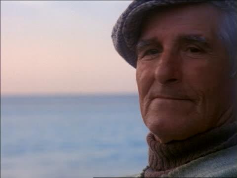 close up face of senior fisherman / Salema, Portugal