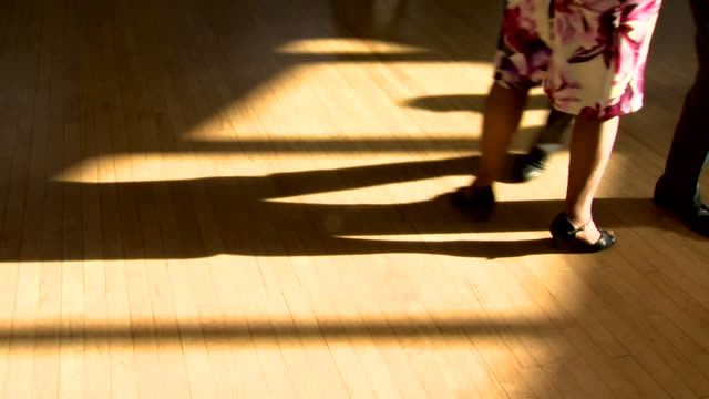close up feet of pensioners at ballroom dancing class - ballroom dancing stock videos & royalty-free footage