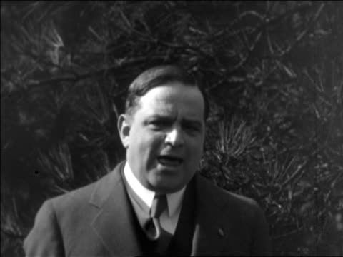 close up fiorello la guardia talking emphatically to camera outdoors / documentary - only mature men stock videos & royalty-free footage