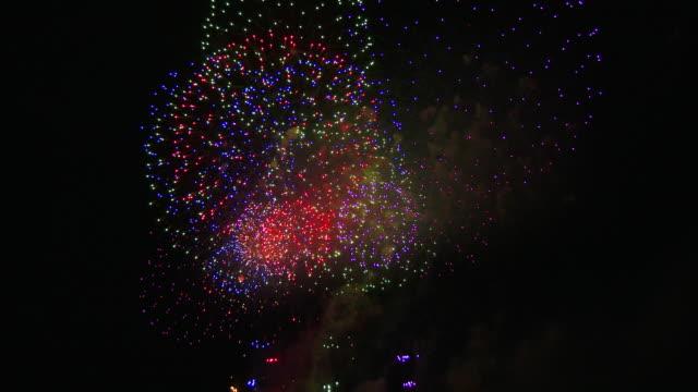 close up fireworks - petardo video stock e b–roll
