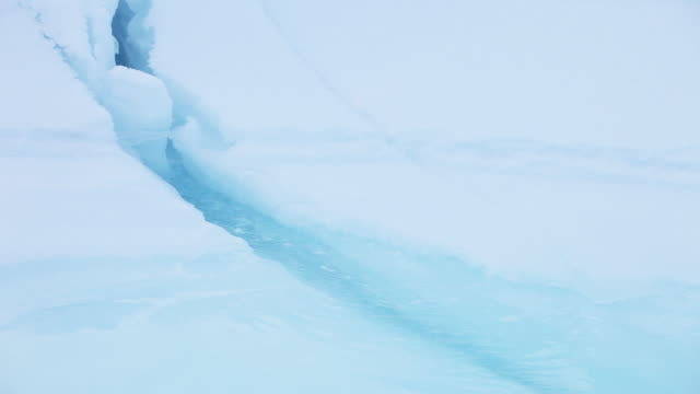 stockvideo's en b-roll-footage met close up, flowing water underneath glacier - onder