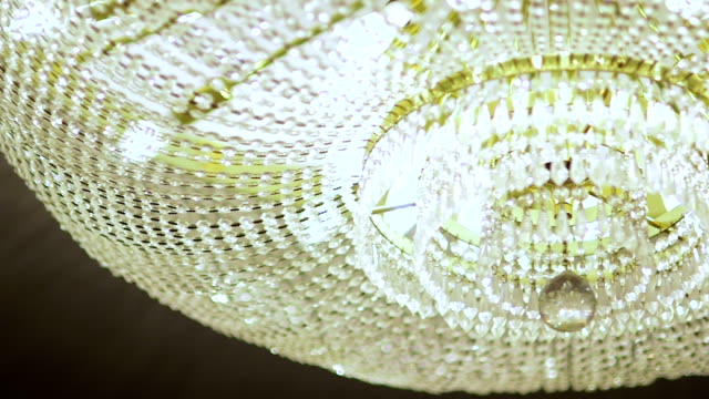 close up footage of a chandelier