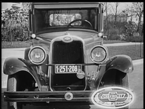 b/w 1928 close up front of chevrolet / industrial - general motors stock videos & royalty-free footage