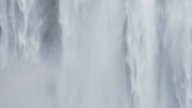 close up gian skogafoss falls - waterfall stock videos & royalty-free footage