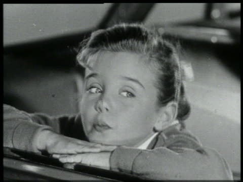 b/w 1959 close up girl sticking out her tongue - 1950 1959 stock videos & royalty-free footage