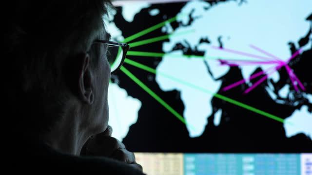 vidéos et rushes de fermez-vous vers le haut de l'affichage global - analyser