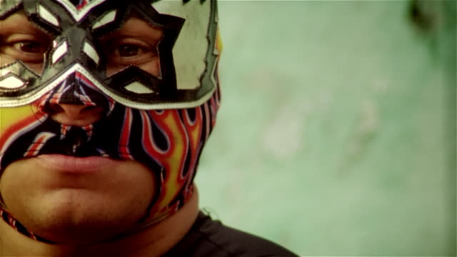 "Close up half face of luchador ""Silver Star""/ Monterrey, Mexico"