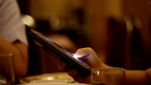 Close up hand human using smart phone