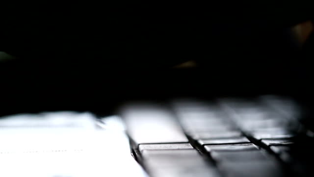 close up hand is typing on the keyboard. - computer keyboard stock videos & royalty-free footage
