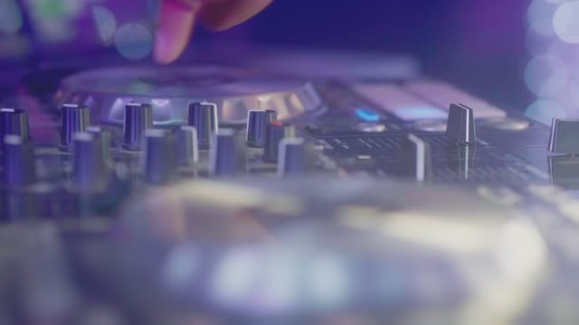 close up hand of dj decks - disk stock videos & royalty-free footage