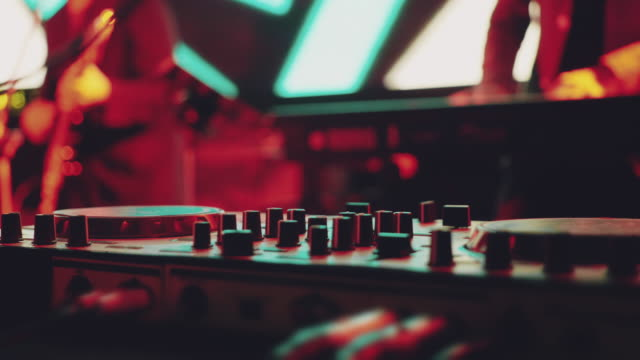 close up hand of dj decks - electronic music stock videos & royalty-free footage