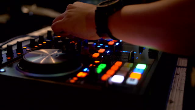 close up hand of dj decks - techno music stock videos & royalty-free footage