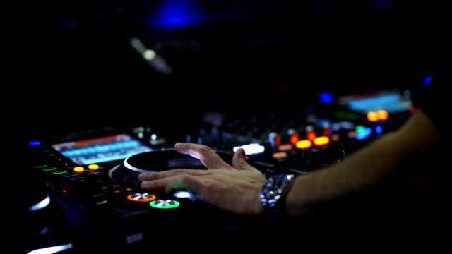 close up hand of dj - club dj stock videos & royalty-free footage