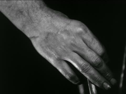 B/W 1936 close up hand of man