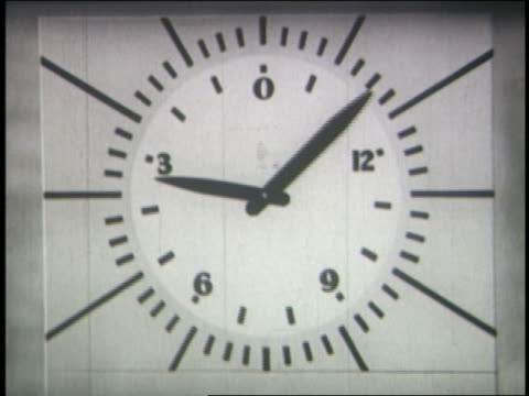 b/w 1942 close up hands of countdown clock moving - audio available stock videos & royalty-free footage