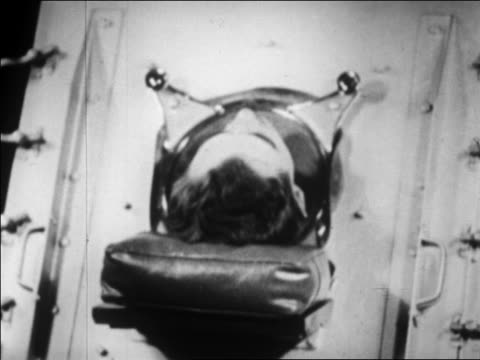 b/w 1929 close up head of man in iron lung / boston / newsreel - 1929 stock videos & royalty-free footage