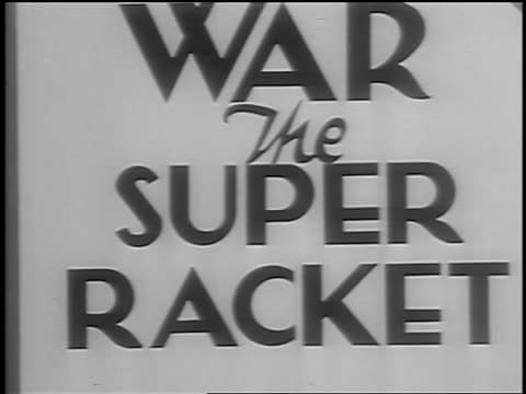 b/w 1933 close up huge book entitled war the super racket / union square nyc / newsreel - 1933 stock videos and b-roll footage