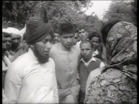b/w close up indira gandhi speaking to crowd / 1960's / sound - indira gandhi stock videos & royalty-free footage