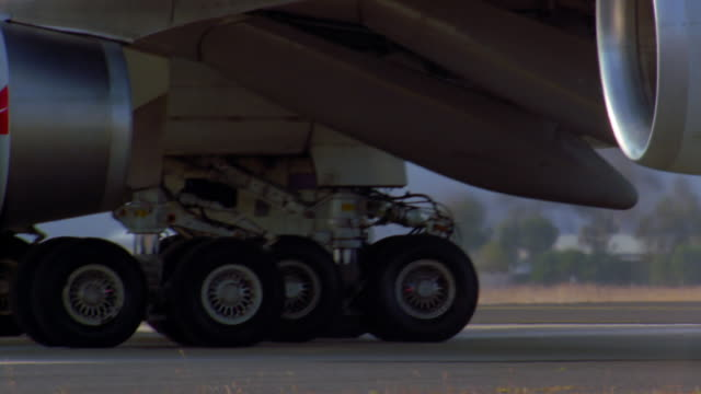close up jet wheels - boeing 747 stock videos and b-roll footage