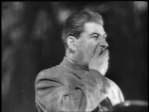 close up joseph stalin wiping mustache / russia - dominering bildbanksvideor och videomaterial från bakom kulisserna