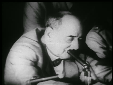 b/w 1953 close up joseph welch talks into microphone at mccarthyarmy hearings - 1953 stock videos and b-roll footage