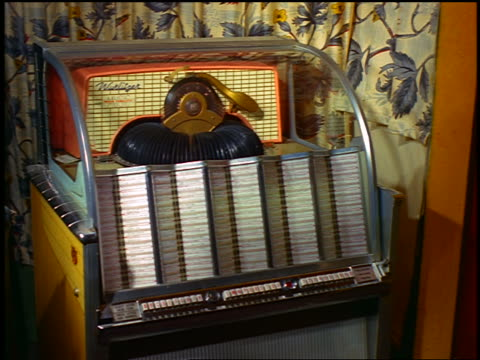 1963 close up jukebox playing record - 1963 stock videos & royalty-free footage