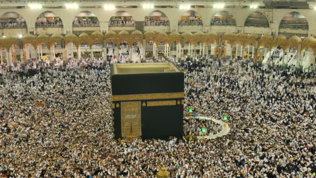 close up kabah in saudi arabia - kabah stock videos and b-roll footage