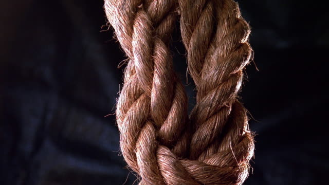 close up knot in rope tightening - rope stock videos & royalty-free footage