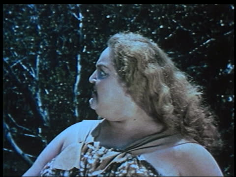 close up large woman screaming / 1958