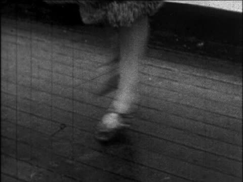 b/w 1926 close up legs of woman doing charleston / newsreel - b roll stock videos & royalty-free footage