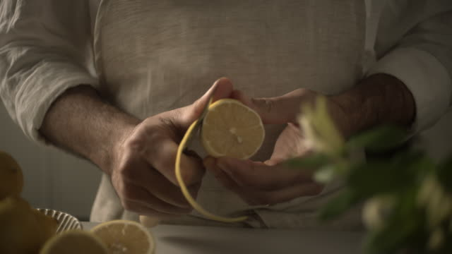 close up lemon slice - peel stock videos & royalty-free footage