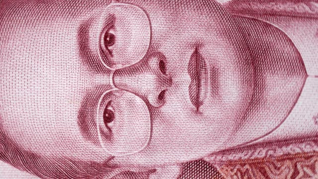 close up macro of thai paper banknote. concept of finance and economy. - fragility stock videos & royalty-free footage