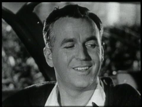 b/w 1959 close up man winking - winking stock videos & royalty-free footage