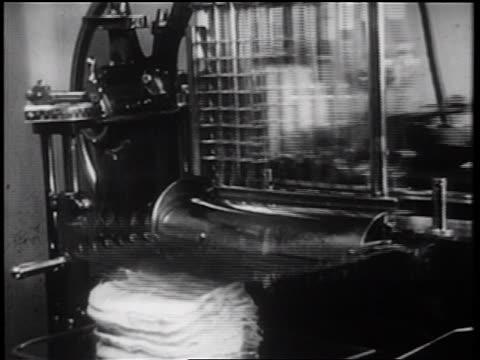 b/w 1939 close up meat slicer / documentary - dinera bildbanksvideor och videomaterial från bakom kulisserna
