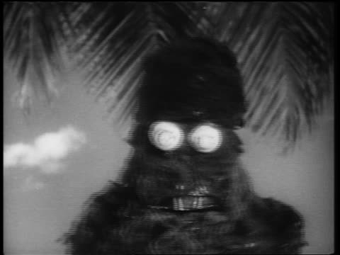 b/w 1961 close up monster walking toward camera until it fills entire screen - ugliness stock videos & royalty-free footage