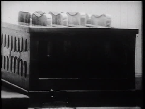 b/w 1939 close up montage food preparation + toast popping out of toaster in diner / documentary - toaster appliance stock videos & royalty-free footage