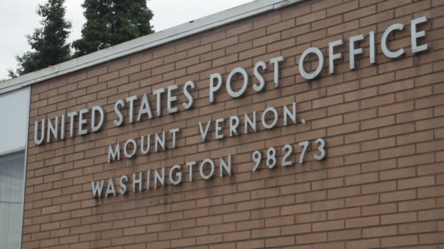 close up, mount vernon post office sign - post office stock videos and b-roll footage