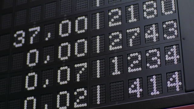 close up numbers changing on frankfurt stock exchange quote board / frankfurt, germany - frankfurt stock exchange stock videos and b-roll footage