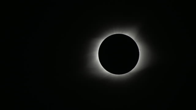 close up of 2017 total solar eclipse totality - solar system stock videos & royalty-free footage