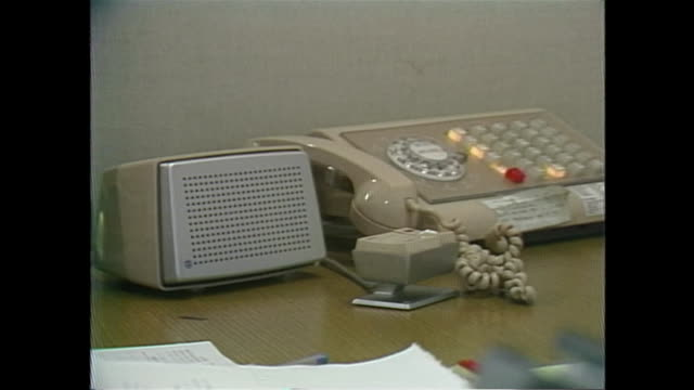 close up of a 1970s telephone and speaker - 1952 stock videos & royalty-free footage