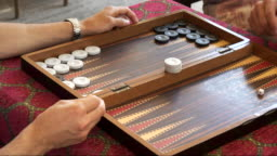 close up of a backgammon game being played in istanbul