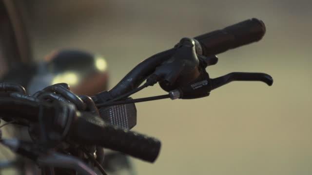 Close up of a bicycle handlebar