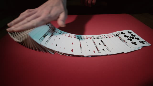 close up of a card trick - playing card stock videos & royalty-free footage