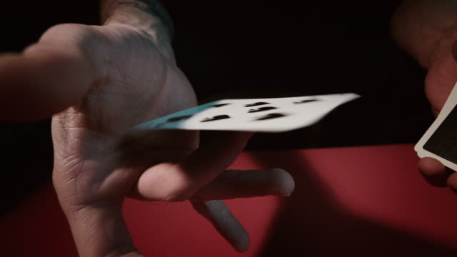 close up of a card trick - magic trick stock videos & royalty-free footage