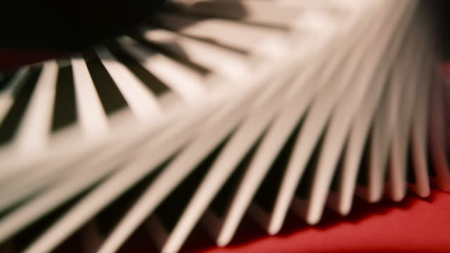close up of a card trick - shuffling stock videos and b-roll footage