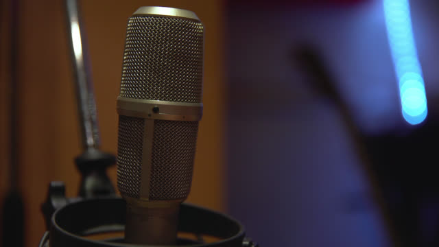 close up of a condenser microphone - voice stock videos & royalty-free footage