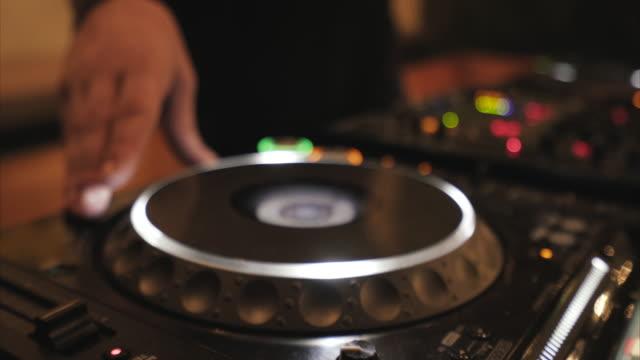 close up of a dj mixing. - club dj stock videos & royalty-free footage