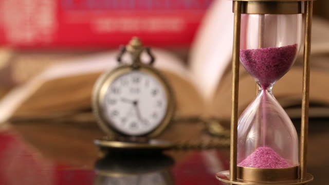 close up of a hourglass - pocket watch stock videos and b-roll footage