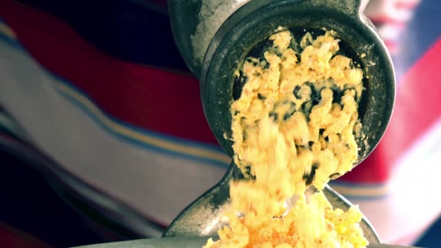 close up of a manual grinding machine - high contrast stock videos & royalty-free footage