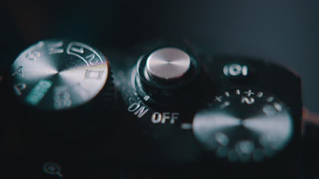close up of a photographer using dials on mirrorless camera or dslr on september 9, 2020 in bristol, uk. - machine part stock videos & royalty-free footage